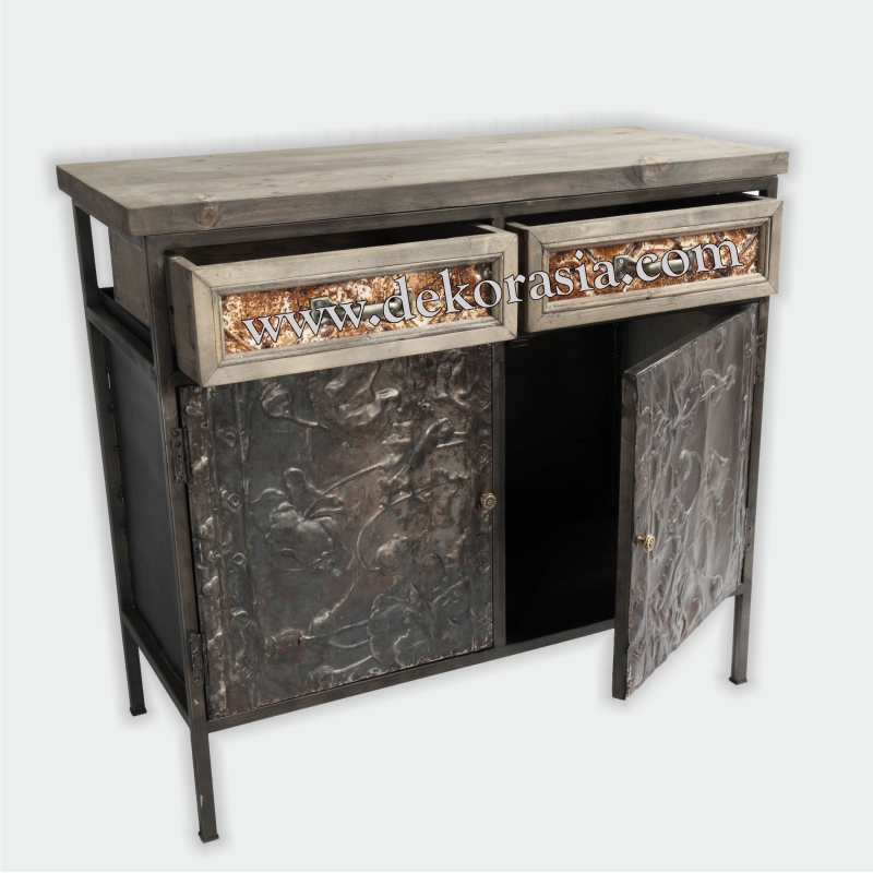 Cabinet 2 Doors and 2 Drawers | Industrial Furniture | Iron Furniture