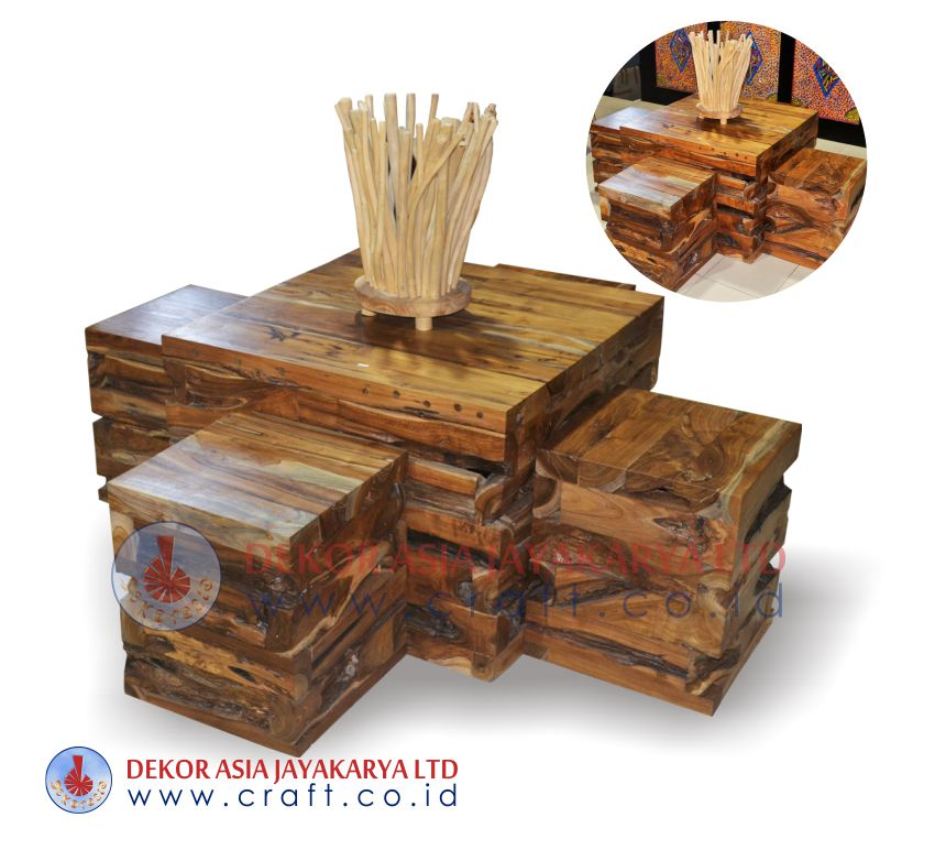Wooden set furniture recycle wood