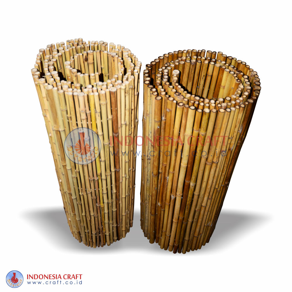 Rolled Bamboo Fence Panels